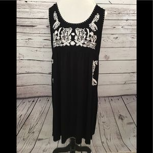 Dresses & Skirts - NWT Embroidered Tank Dress